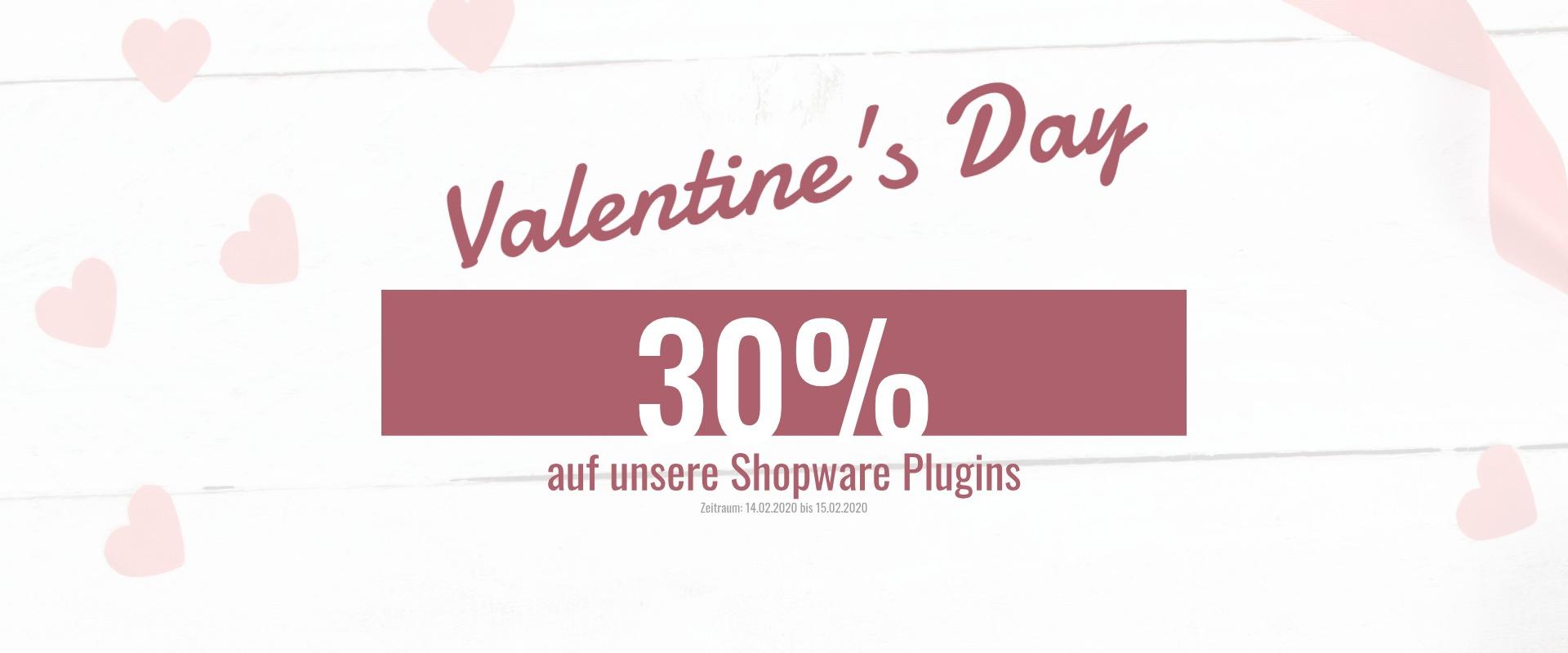 Shopware Valentine's Day Sale - 30% auf unsere Plugins